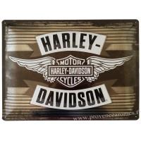 Plaque métal Harley Davidson motor cycles 40 x 30 cm déco rétro vintage