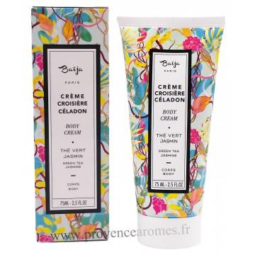Crème corporel Thé vert Matcha Jasmin Baïja - tube 75 ml Croisière Céladon collection