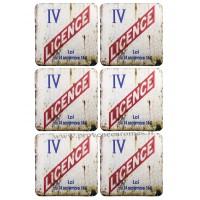 Dessous de verre LICENCE IV Sous Verre déco rétro vintage