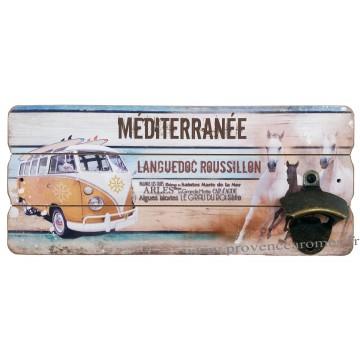 Décapsuleur mural VAN MÉDITERRANÉE Languedoc Roussillon déco rétro vintage