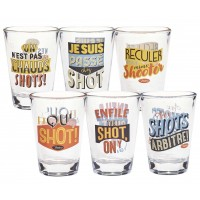 Coffret de 6 verres shot SUPPORTERS Natives déco rétro vintage