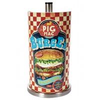 Dévidoir essuie-tout métal BURGER PIG MAC Natives déco rétro vintage