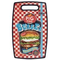Planche à découper BURGER PIG MAC Natives déco rétro vintage