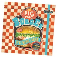 Serviettes en papier BURGER PIG MAC Natives déco rétro vintage