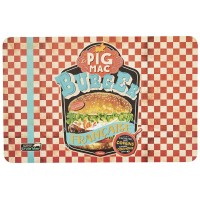 Set de Table BURGER PIG MAC Natives déco rétro vintage