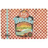 Set de Table BURGER PIG MAC Natives déco rétro vintage