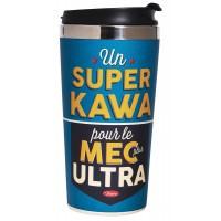 "Mug isotherme bambou "" SUPER KAWA"" Natives déco rétro vintage"