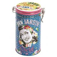 Boîte à café ronde MON JARDIN SUCRÉ Natives déco rétro vintage