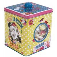Boîte à bonbons MON JARDIN SUCRÉ Natives déco rétro vintage