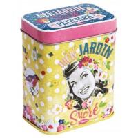 Boîte métal sachets de pâtisserie MON JARDIN SUCRÉ Natives Déco rétro vintage