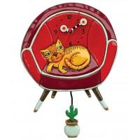Horloge Chat dans fauteuil à balancier Allen Designs