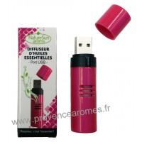 Diffuseur d'Huiles Essentielles Port USB Fushia - Nature Sun aroms