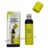 Diffuseur d'Huiles Essentielles Port USB Vert Anis- Nature Sun aroms