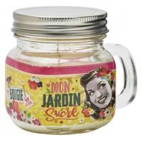 Bougie Mason Jar MON JARDIN SUCRÉ Natives déco rétro vintage
