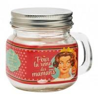 Bougie Mason Jar POUR LA REINE DES MAMANS Natives déco rétro vintage