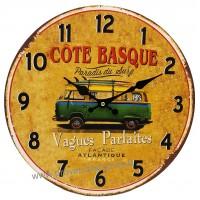 Horloge VAN Paradis du Surf déco rétro vintage