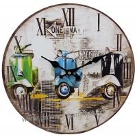 Horloge SCOOTERS déco rétro vintage