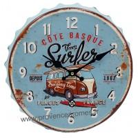 Horloge capsule métal VAN Venez Surfer déco rétro vintage