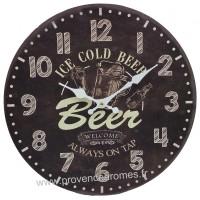 Horloge ICE COLD BEER déco rétro vintage