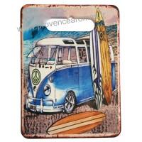 Dessous de Plat VAN bleu plage Surf déco rétro vintage
