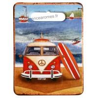 Dessous de Plat VAN rouge plage Surf déco rétro vintage