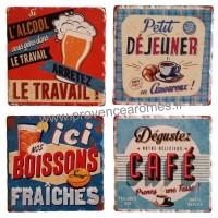 Dessous de verre en Céramique Boissons déco rétro vintage