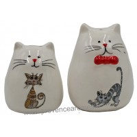 Set Sel/Poivre CHATS MALINS collection Love cats