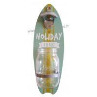 Décapsuleur mural bois planche de Surf HOLIDAY FUND modèle 2