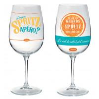 Coffret de 2 verres à pied SPRITZ Natives déco rétro vintage
