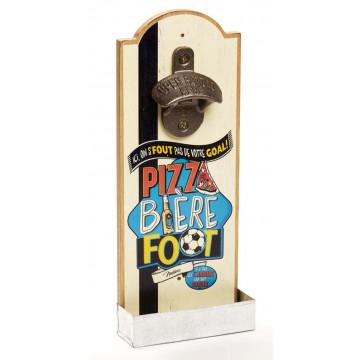 Décapsuleur mural PIZZA BIÈRE FOOT Natives déco rétro vintage