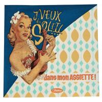 Serviettes en papier J'VEUX DU SOLEIL Natives déco rétro vintage