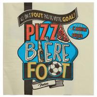 Serviettes en papier PIZZA BIÈRE FOOT Natives déco rétro vintage