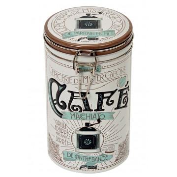 Boîte à café ronde MISTER CAPONE Natives déco rétro vintage