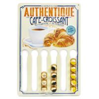 Plaque porte-dosettes CAFÉ-CROISSANT Natives déco rétro vintage