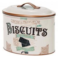Boîte biscuits avec poignée MISTER CAPONE Natives déco rétro vintage