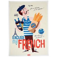 Torchon EXCUSE MY FRENCH Natives déco rétro vintage