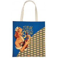 Sac coton Tot bag J'VEUX DU SOLEIL Natives déco rétro vintage