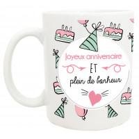 Mug JOYEUX ANNIVERSAIRE collection mugs petits messages