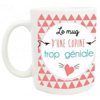 Mug COPINE TROP GÉNIALE collection mugs petits messages
