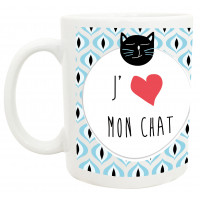 Mug J'AIME MON CHAT collection mugs petits messages
