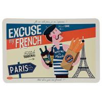 Set de Table EXCUSE MY FRENCH Natives déco rétro vintage