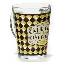 Mug en verre CAFÉ CINÉFILTRES Natives déco rétro vintage