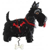Horloge Chien Scottish terrier noir à balancier Allen designs