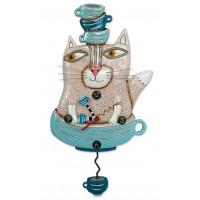 Horloge Chat et tasses à balancier déco Allen designs