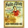 Plaque métal HUILE D'OLIVE SUPÉRIEURE 15 x 20 cm déco rétro vintage