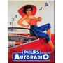 Plaque métal AUTORADIO PHILIPS 15 x 20 cm déco rétro vintage