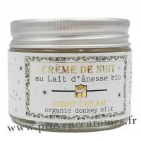 Crème de nuit au lait d'ânesse BIO Un été en Provence