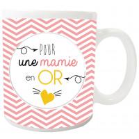 Mug POUR UNE MAMIE EN OR collection Mugs petits messages