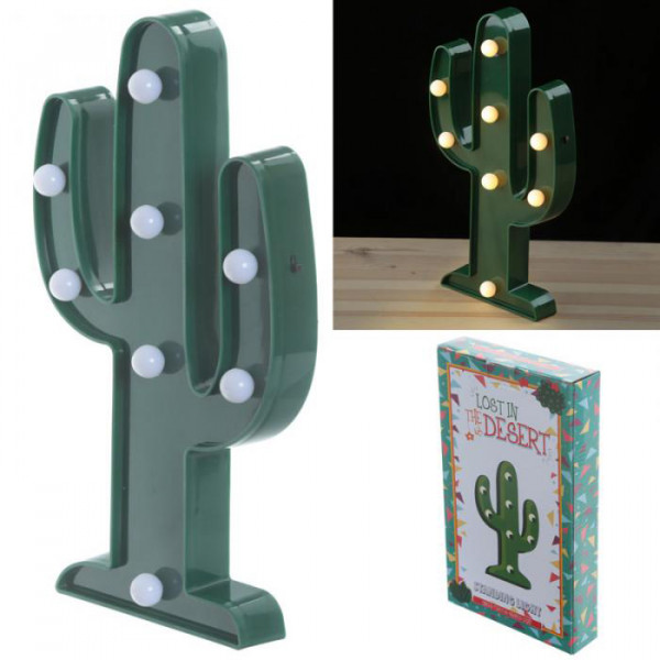 lampe veilleuse led cactus provence ar mes tendance sud. Black Bedroom Furniture Sets. Home Design Ideas