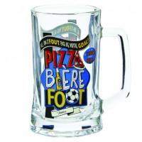 Chope à bière PIZZA BIÈRE FOOT Natives déco rétro vintage